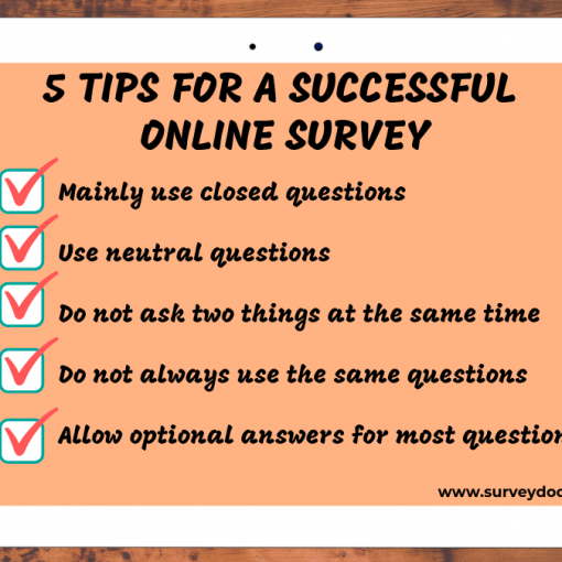 surveydoc shows 5 tips for a sucessful online survey