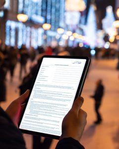 paperless test drive agreement using surveydoc online survey app