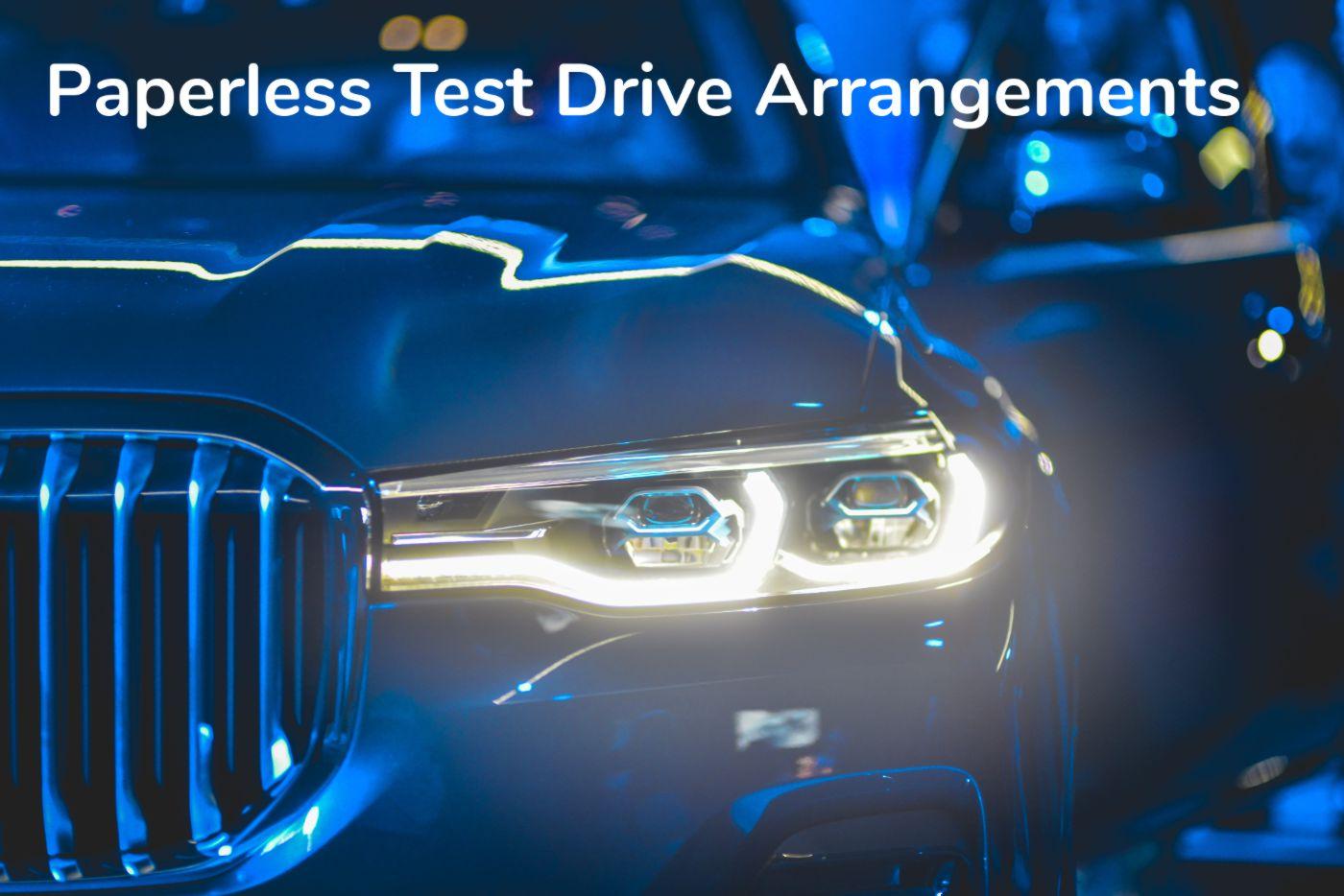 Paperless Test Drive Arrangements using surveydoc