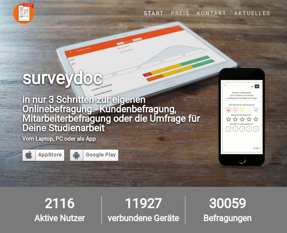 30000 Online-Umfragen bei surveydoc.de