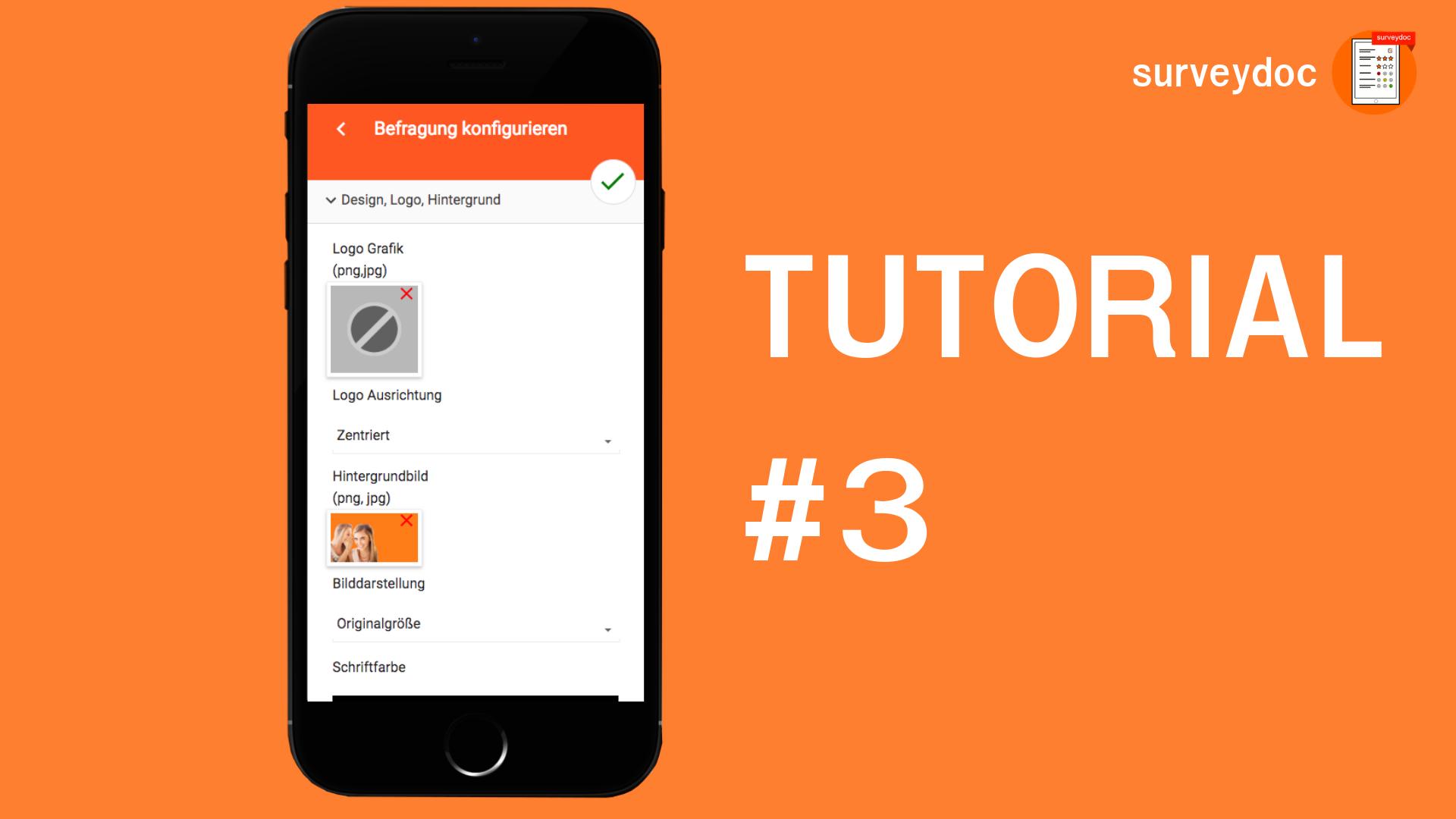 surveydoc Video-Tutorial: Eigenes Logo und Bild